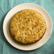 Tortilla de patatas sin huevo (vegana)